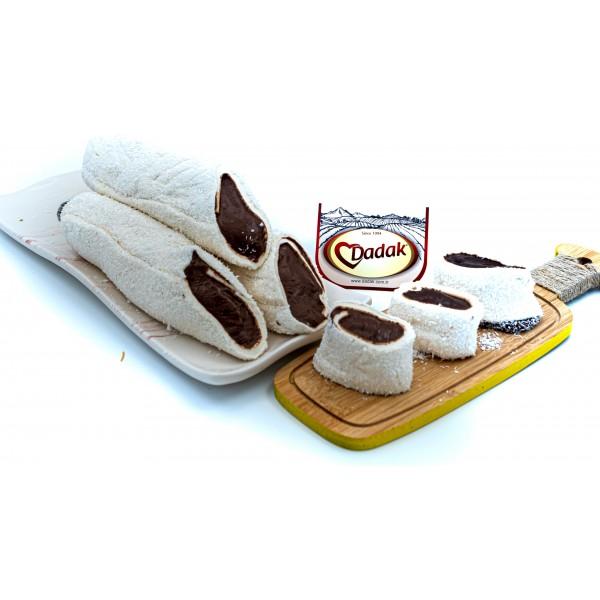 Hindistan Cevizi Kaplamalı Çikolata Dolgulu Lokum